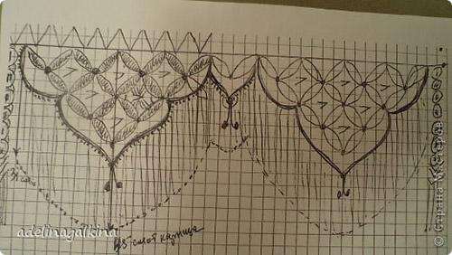 Схема плетения элемента шторы