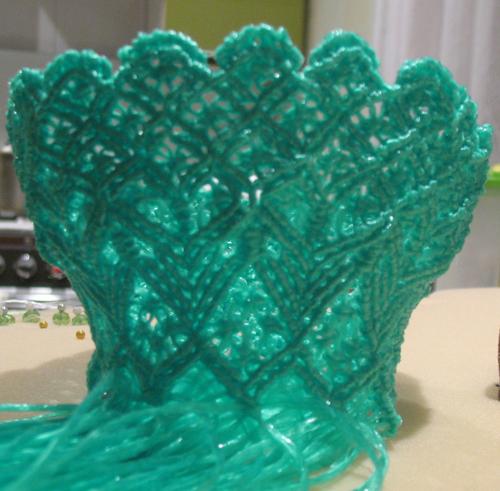 макраме, макрамеха, как сплести вазочку