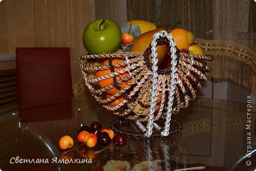 декор корзинка для фруктов