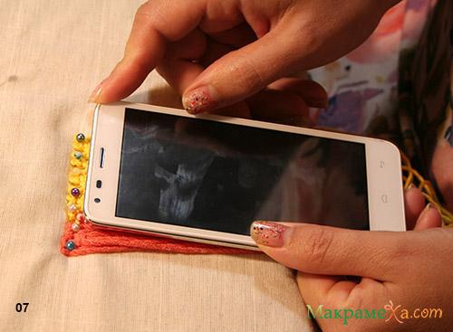 чохол на телефон з макраме