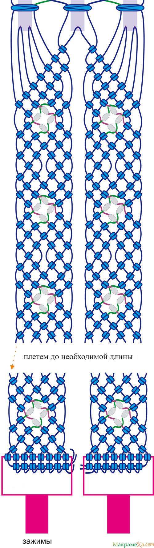 схема плетения макраме пояса