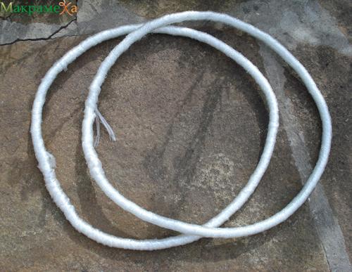 обмотка веревки - каркаса