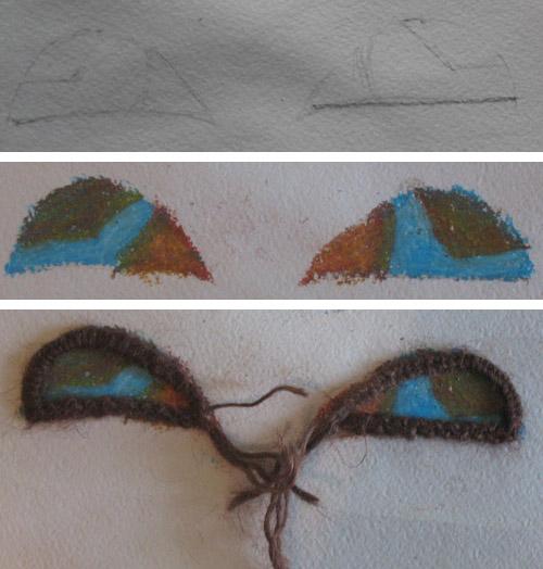 рисуем глаза для панно