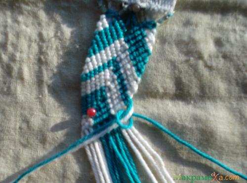 вывожу нитки из плетения