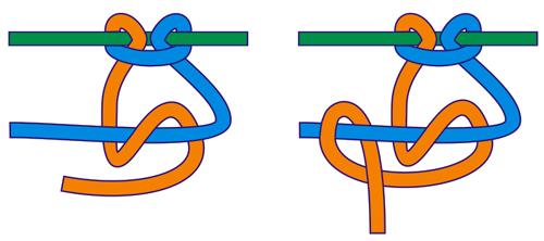Репсовый горизонтальный узел справа налево