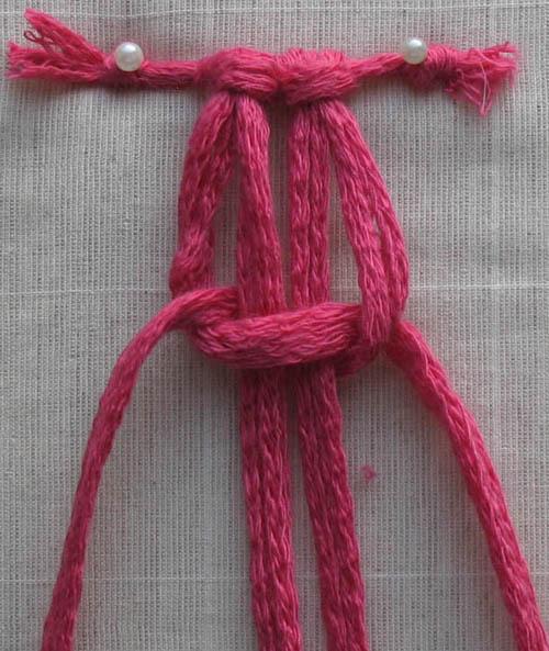 плетем плоский узел